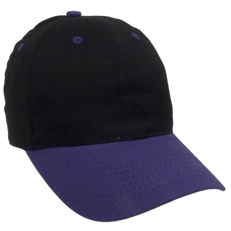 Two Tone Plain Baseball Cap Unstructured Blank Hats - Walmart.com 4e2dc7d0b79