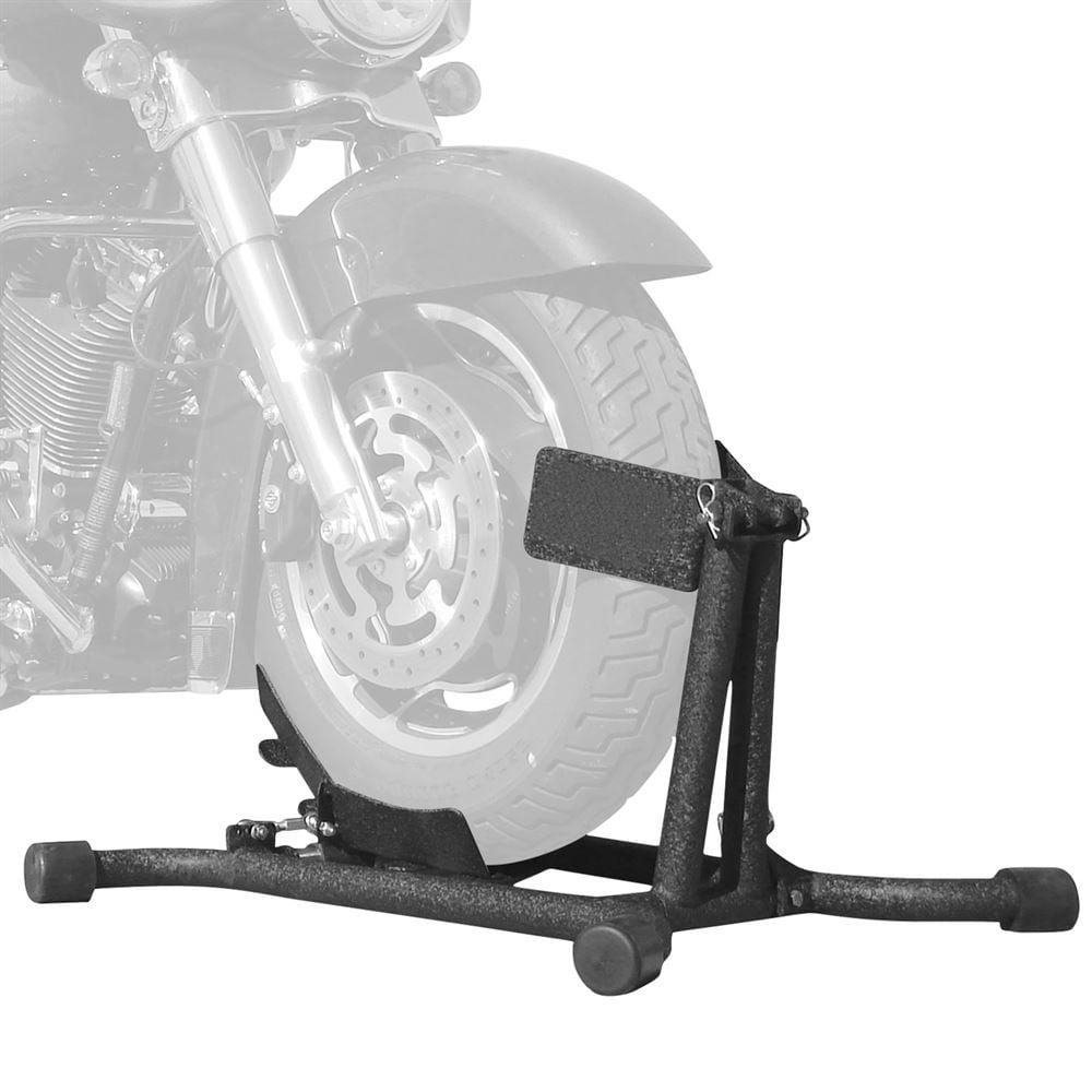 Baxley Adjustable Self-Locking Motorcycle Wheel Chock Stand