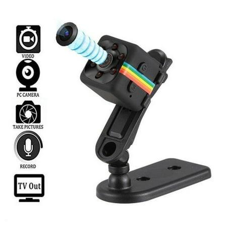 SQ11 Mini Camera HD 1080P Night Vision Camcorder Car DVR Infrared Video Recorder Sport Digital Camera Support TF Card DV Camera ()