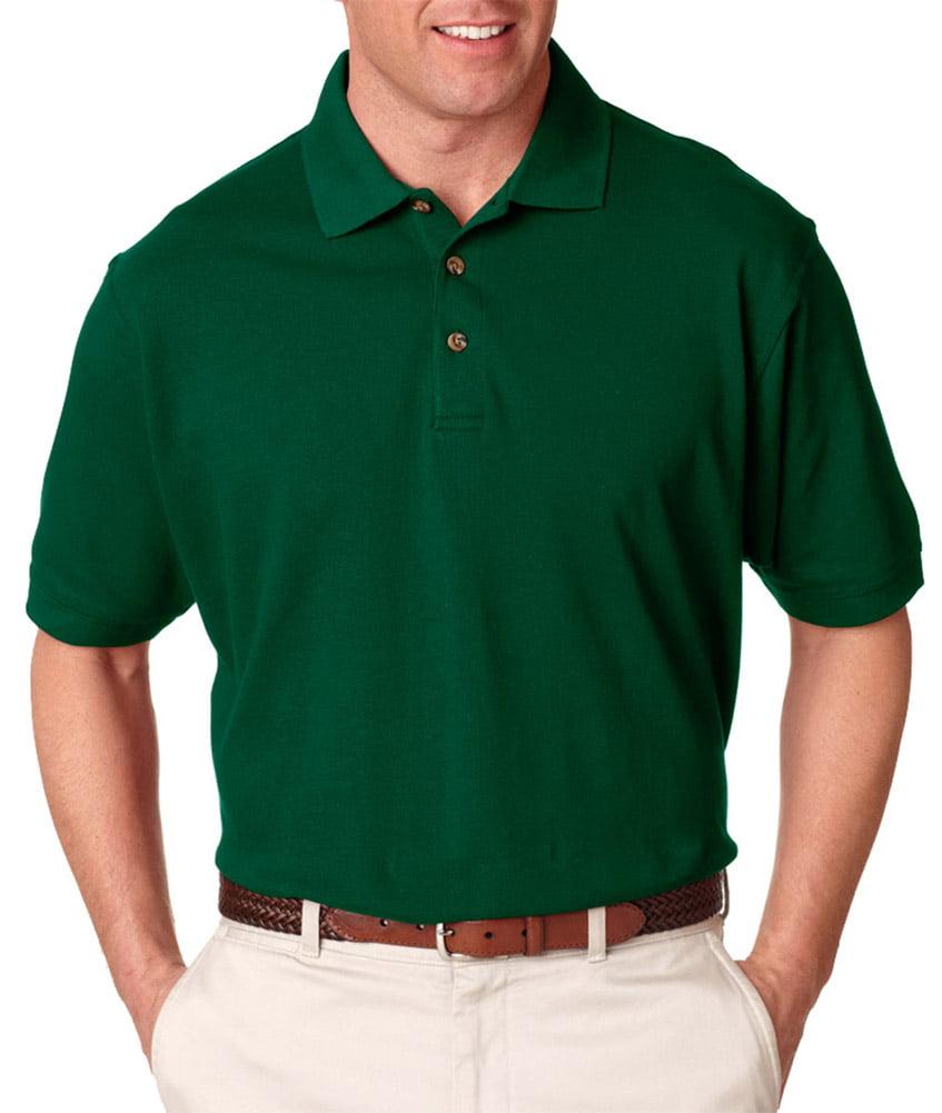 Ultraclub Ultraclub 8535 Mens Classic Polo Shirt Forest Green 3x