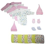 Bambini Newborn Baby Girl 21 Pc Layette Baby Shower Gift Set