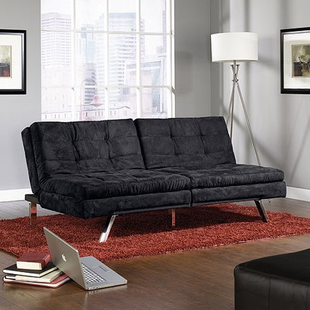 Sauder Studio Edge Durant Microfiber Convertible Sofa Futon, Multiple Colors