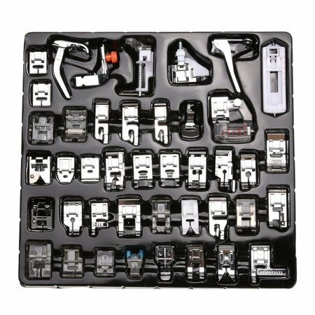 42 PCS/set Professional Domestic Sewing Machine Presser Feet Set for Babylock, Singer, Janome, Brother, Elna, Toyota, New Home, Simplicity, Necchi, Kenmore , etc ,Low Shank Sewing Machine ()