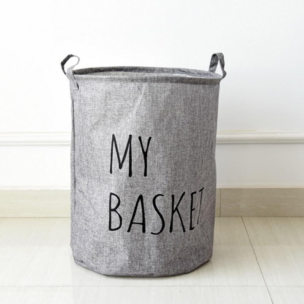 Mosunx Cotton Waterproof PE Coating Storage Basket Sundries Storage Box