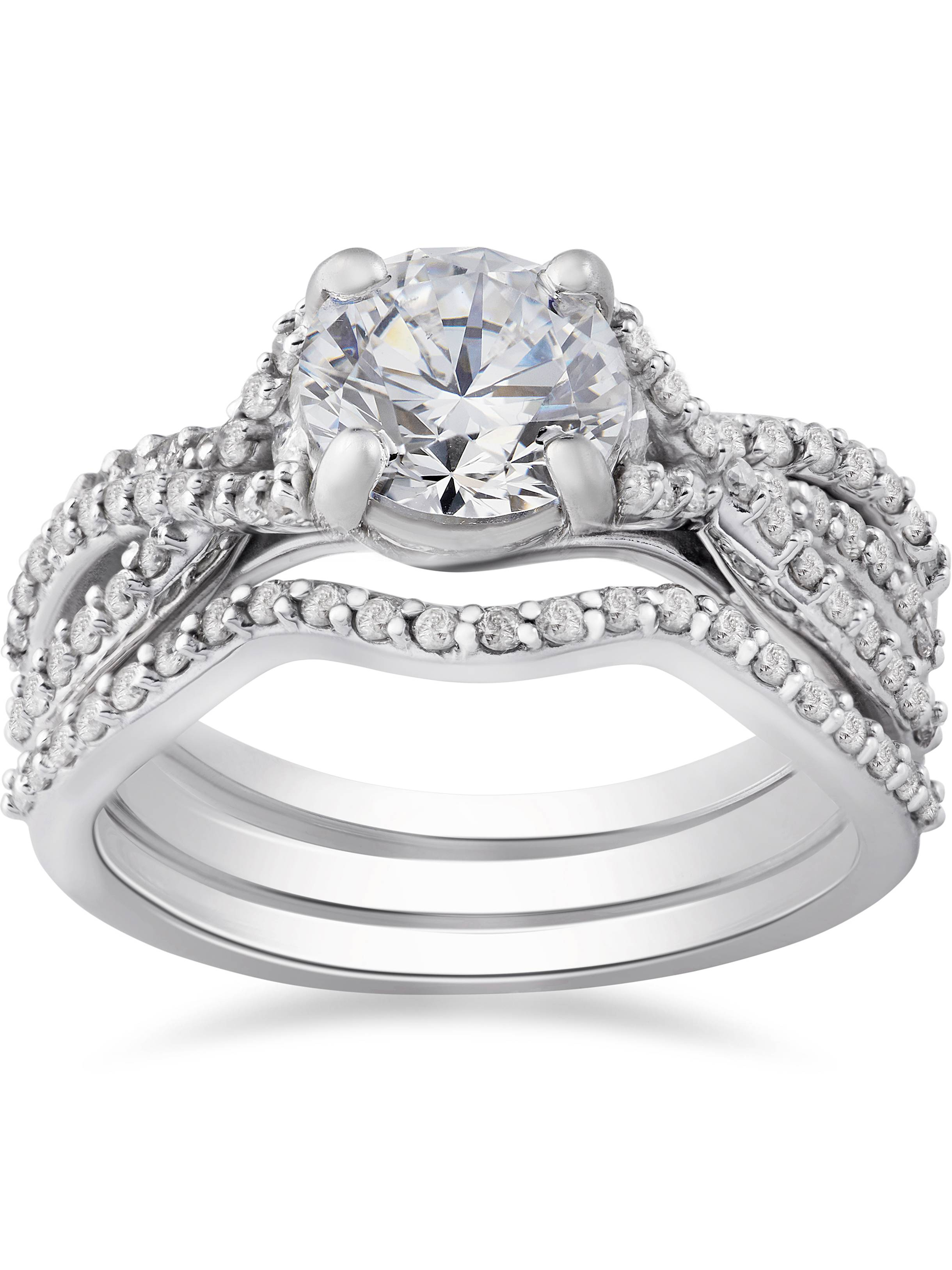 twisted engagement products half band dublin set platinum ring diamond brilliant bezel jewellers rings certified campbell round