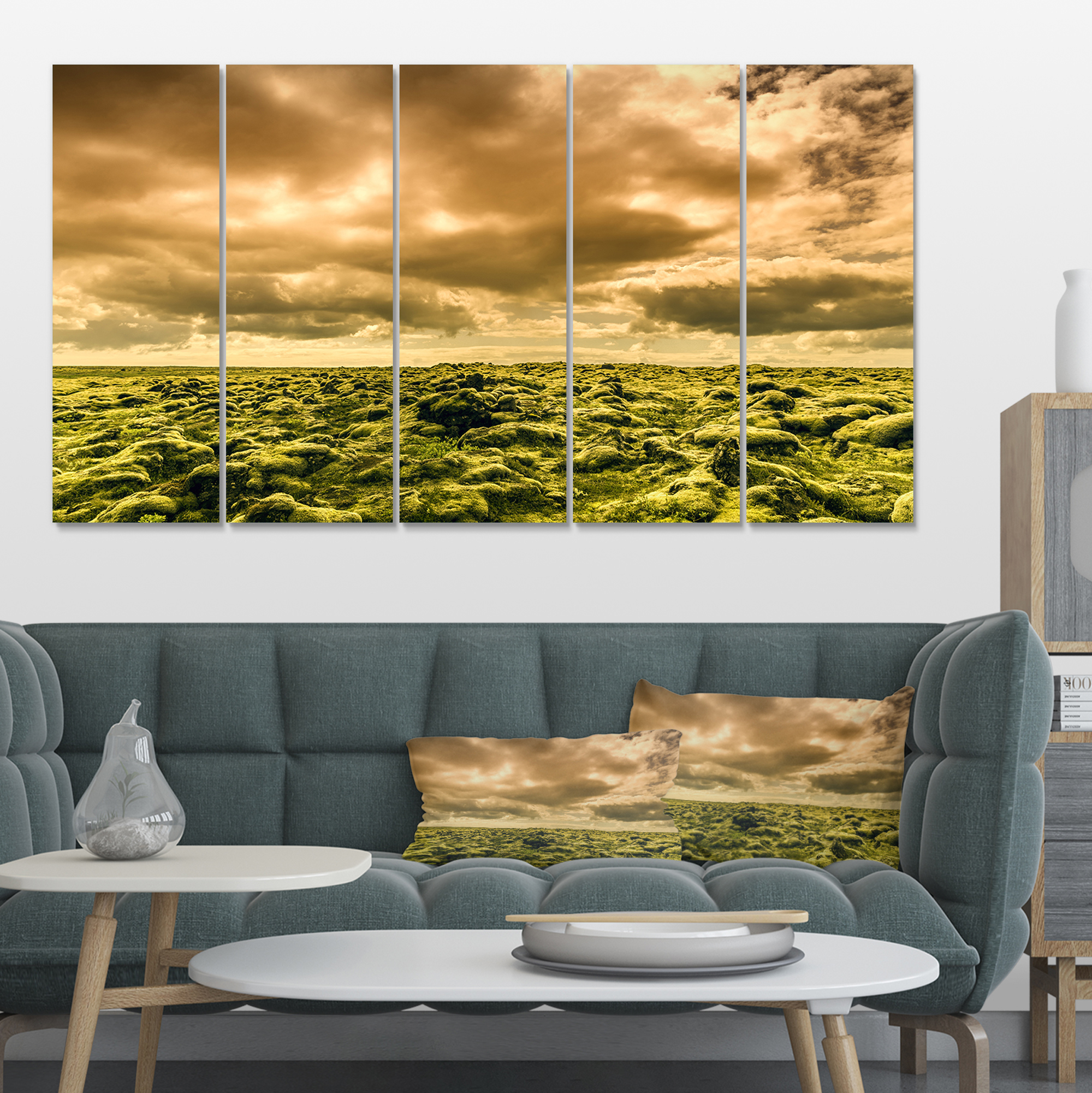 Beautiful View of Sky and Moss - Large Landscape Canvas Art