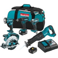 Makita-XT505 18 Volt LXT Lithium-Ion Cordless Combo Kit (5-Tool)