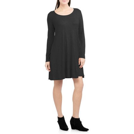 Faded Glory Women's Ribbed Swing Dress