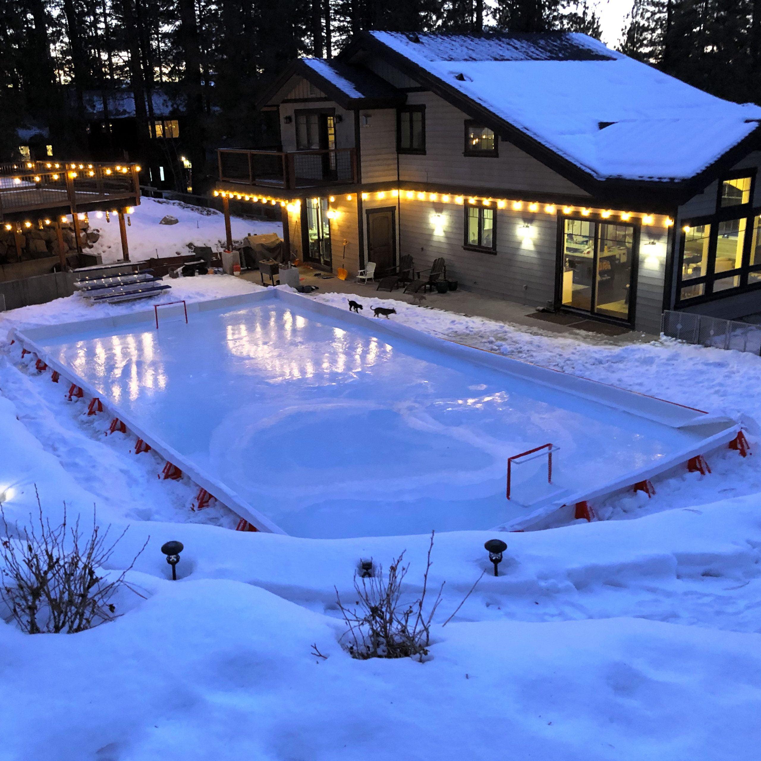 Ice N Go Pro Rink Kit 20 X 40 Backyard Ice Hockey Rink Kit Walmart Canada Best backyard ice rink kit canada