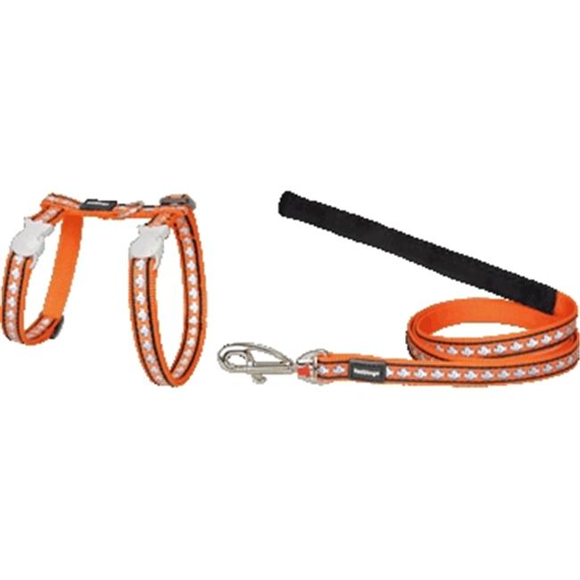 Red Dingo CH-RF-OR-SM Cat Harness & Lead Combo Reflective Orange
