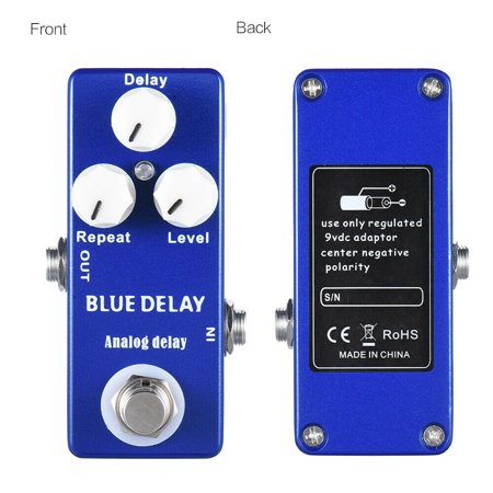 MOSKY BLUE DELAY Analog Delay Effects Pedal for Electric Guitar True Bypass True Blue Effect