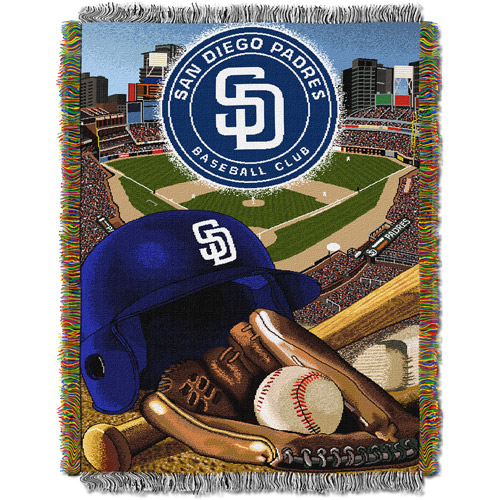 "MLB 48"" x 60"" Home Field Advantage Series Tapestry Throw, Padres"