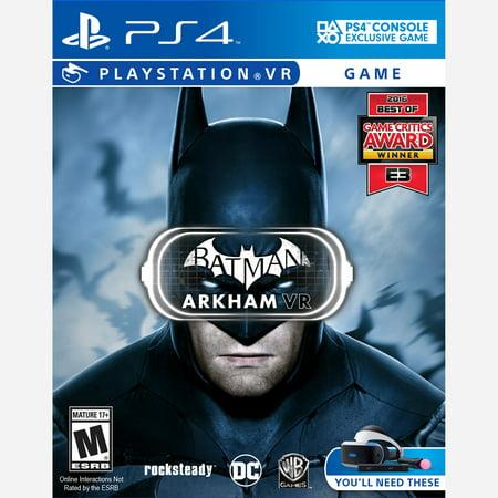 Warner Bros. Batman: Arkham VR - Preowned (PS4) (Warner Bros Batman Arkham Vr Playstation 4)