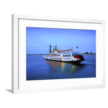 Louisiana, New Orleans, Creole Queen Steamboat, Mississippi River Framed Print Wall Art By John (Creole Queen Boat)