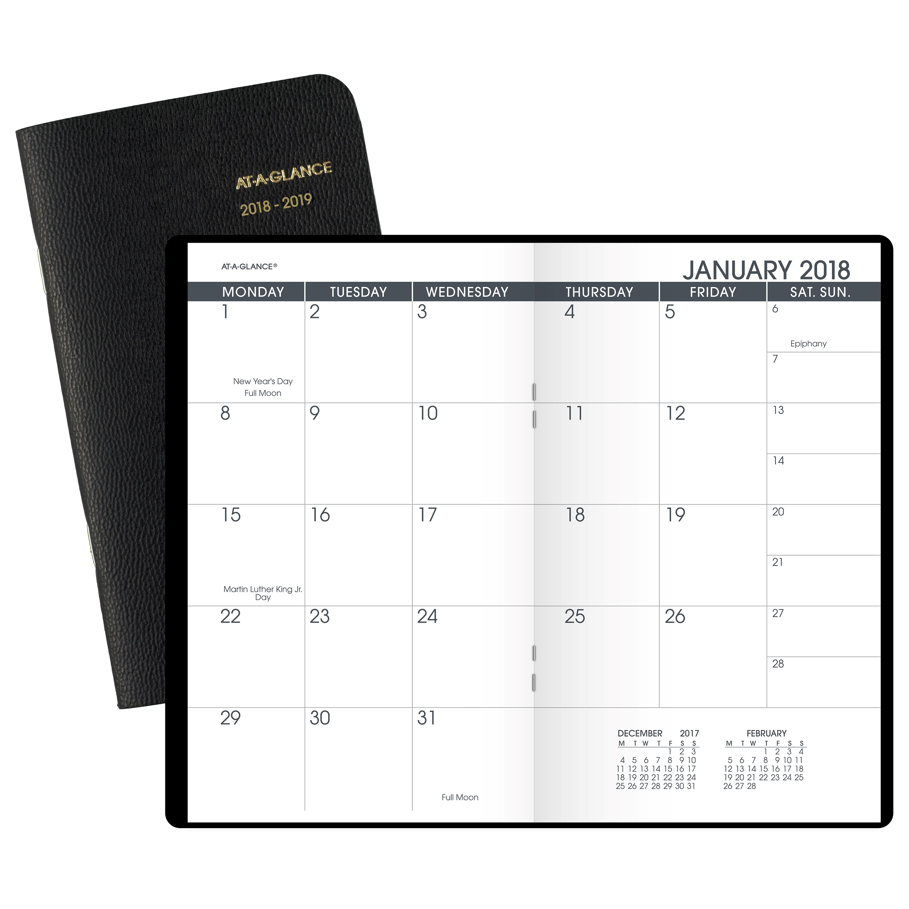 """2018 AT-A-GLANCE Two-Year Monthly Planner, 24 Months, January Start, 3 1 2"""" x 6 1 8\ by ACCO BRANDS"""