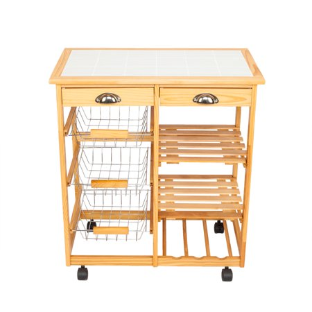 Wooden Countertop - Kitchen Carts on Wheels, 30