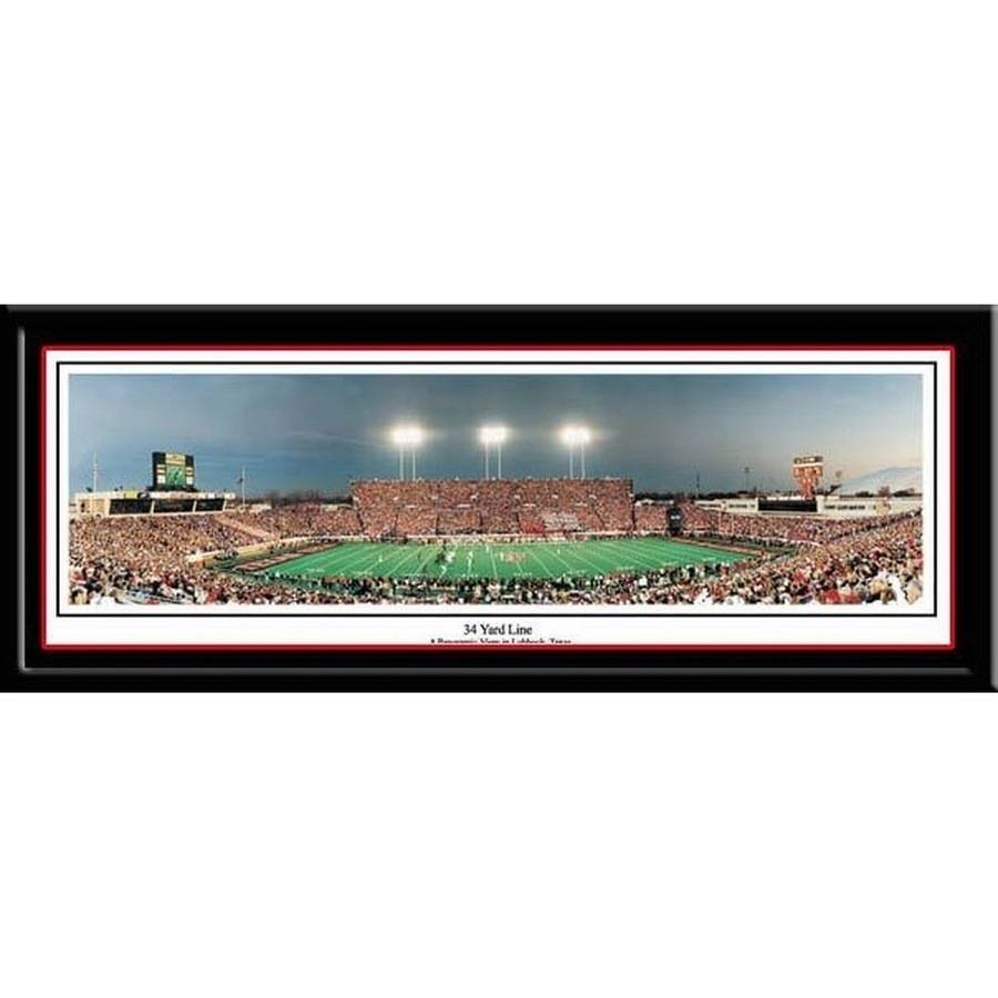 Texas Tech Red Raiders Framed Stadium Print