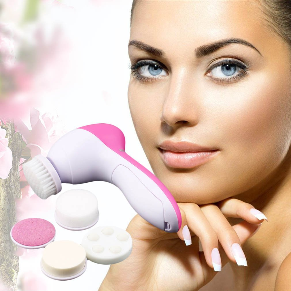 massagers handheld 5-1 Multifunction Electric Face Facial Cleansing Brush Spa Skin Care massage