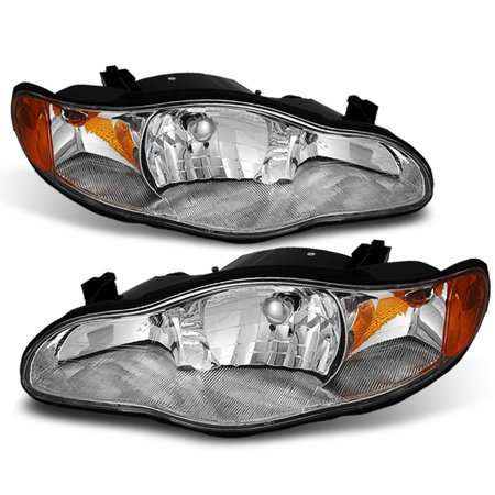 Fit 00-05 Chevy Monte Carlo Replacement Headlights Lamps Lights Left+Right Monte Carlo Lumina Headlight
