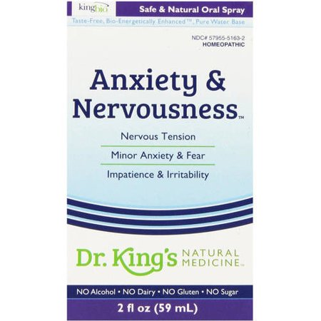 King Bio Anxiety and Nervousness Medicine, 2 OZ