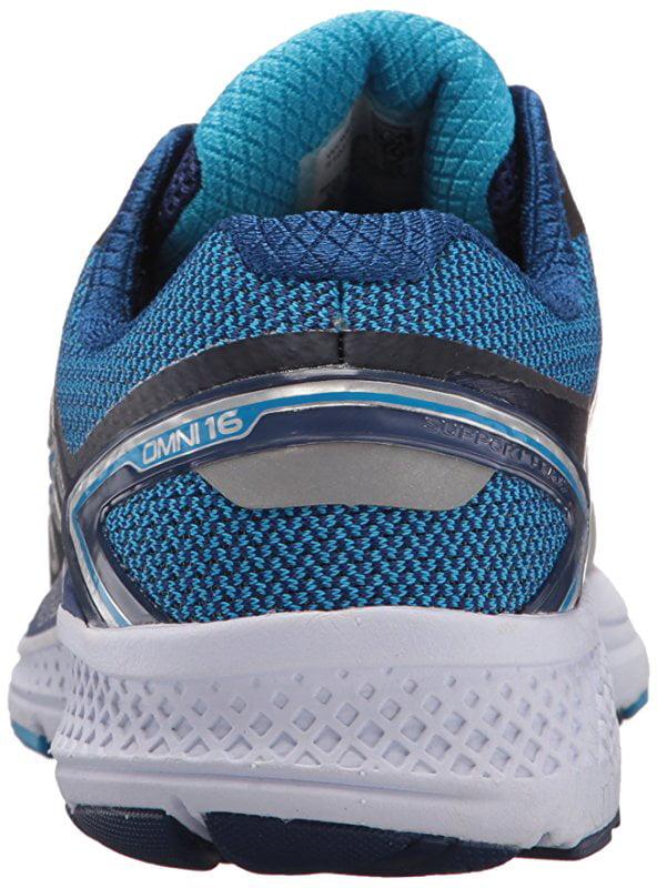Saucony Women's Omni 16 Running Shoe, Grey Blue, 6.5 Medium US