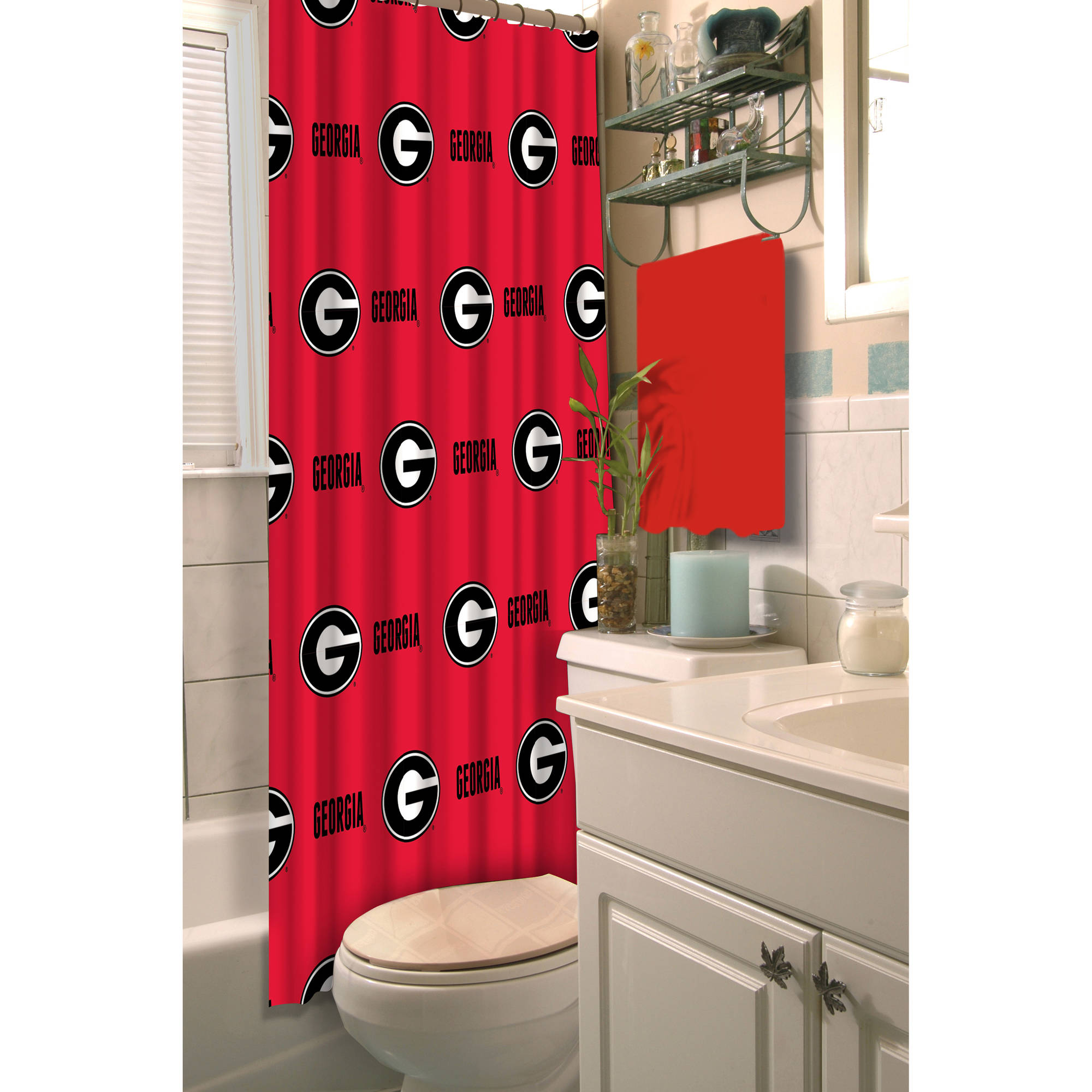 NCAA University of Georgia Decorative Bath Collection - Shower Curtain