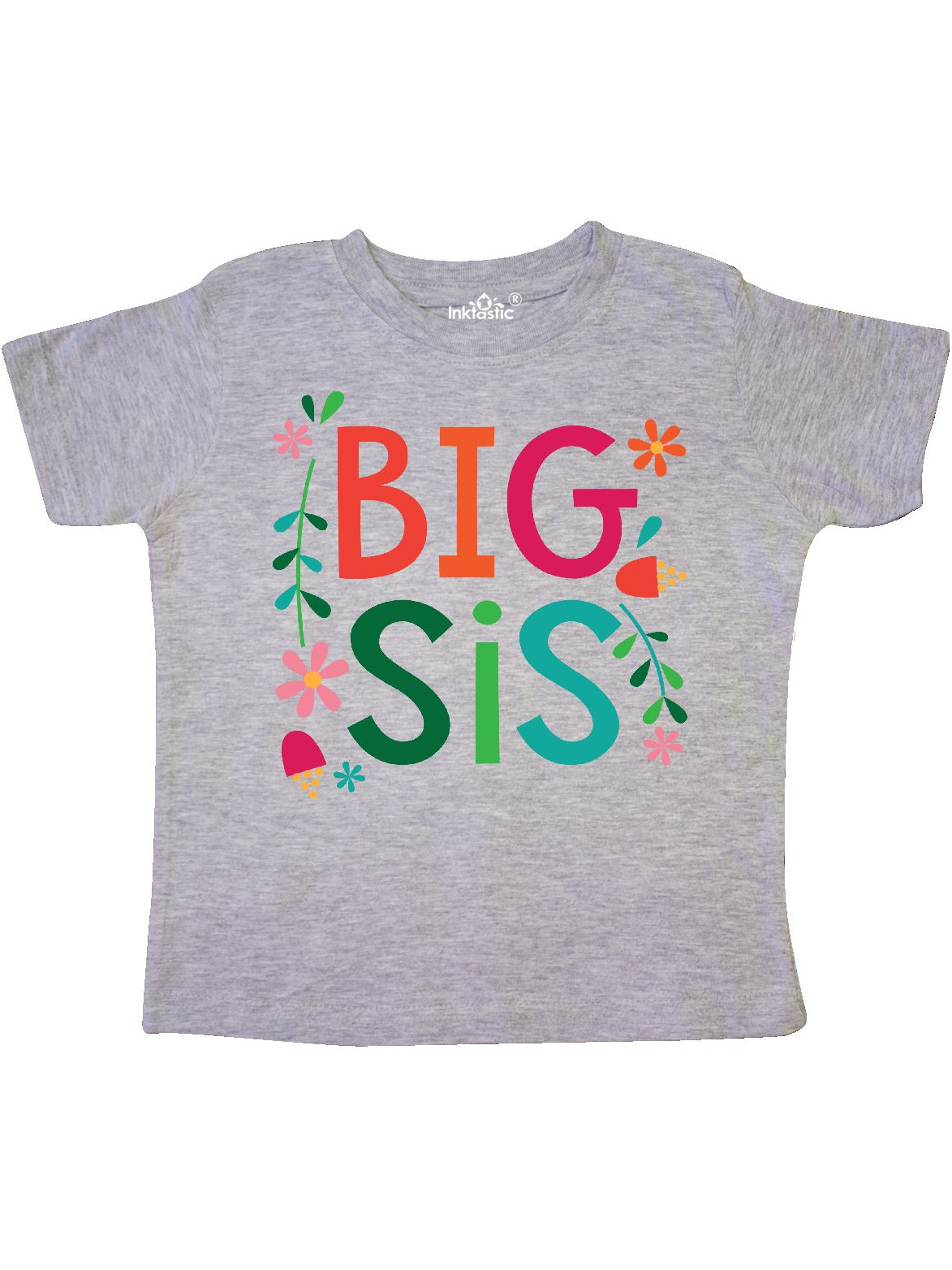 Big Sis Girls Cute Sister Announcement Gift Toddler T-Shirt