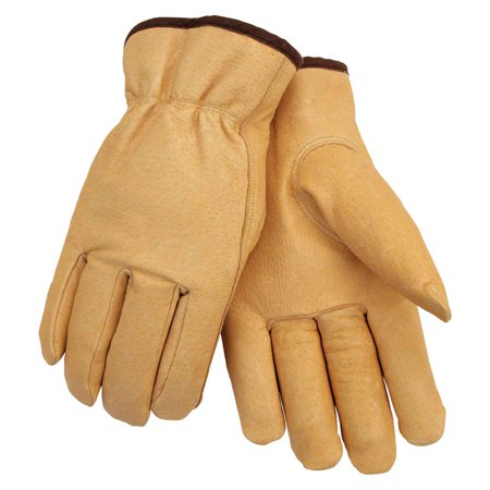 Pigskin Grain - Black Stallion 9PW Premium Grain Pigskin Winter Drivers Gloves, Small