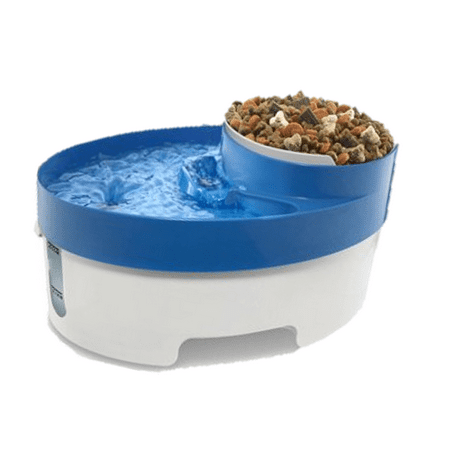 Paws & Pals Pet Fountain Water and Food Bowl Feeder with Water Filter