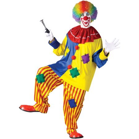 Big Top Clown Adult Halloween Costume, Size: Up to 200 lbs - One Size](Harlequin Clown Costume Plus Size)