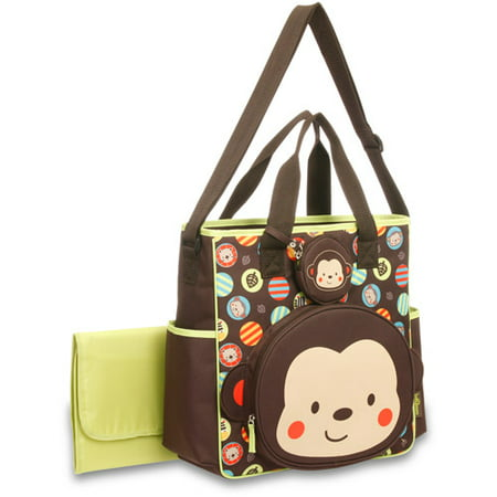 Baby Boom Tote Diaper Bag With Changing Pad Monkey