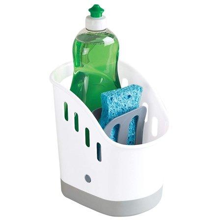 Kitchen Sink Organizer Sink Caddy for Kitchen Organization FREE Eyeglass Pouch by Juniper's Secret (Blanco Sink Cleaner)