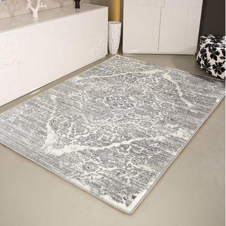 Persian Rugs 4620 Distressed Silver 7 10x10 6 Area Rug