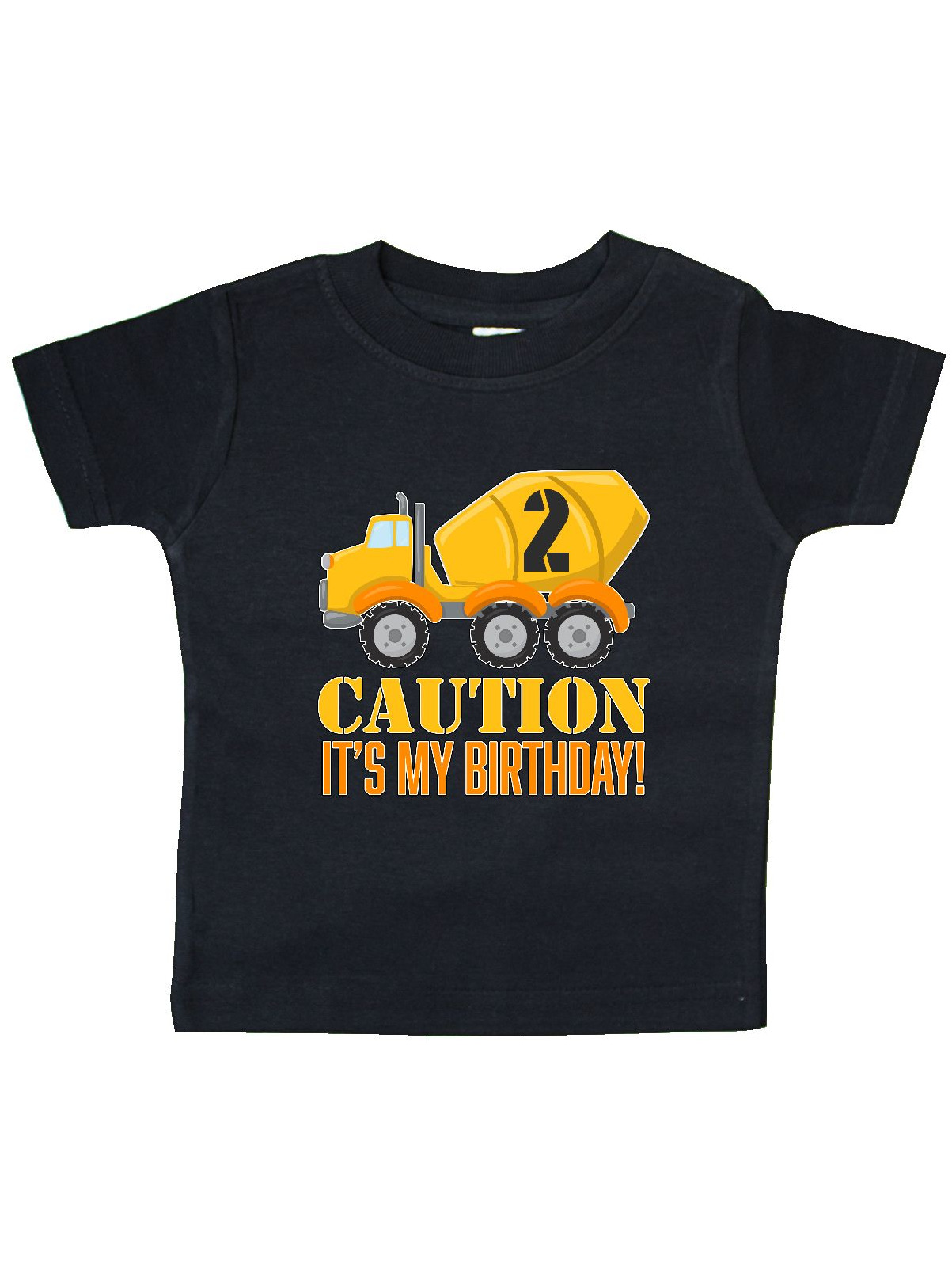Inktastic 2nd Birthday Construction Truck, Cement Mixer 2 Years Baby T-Shirt by Inktastic