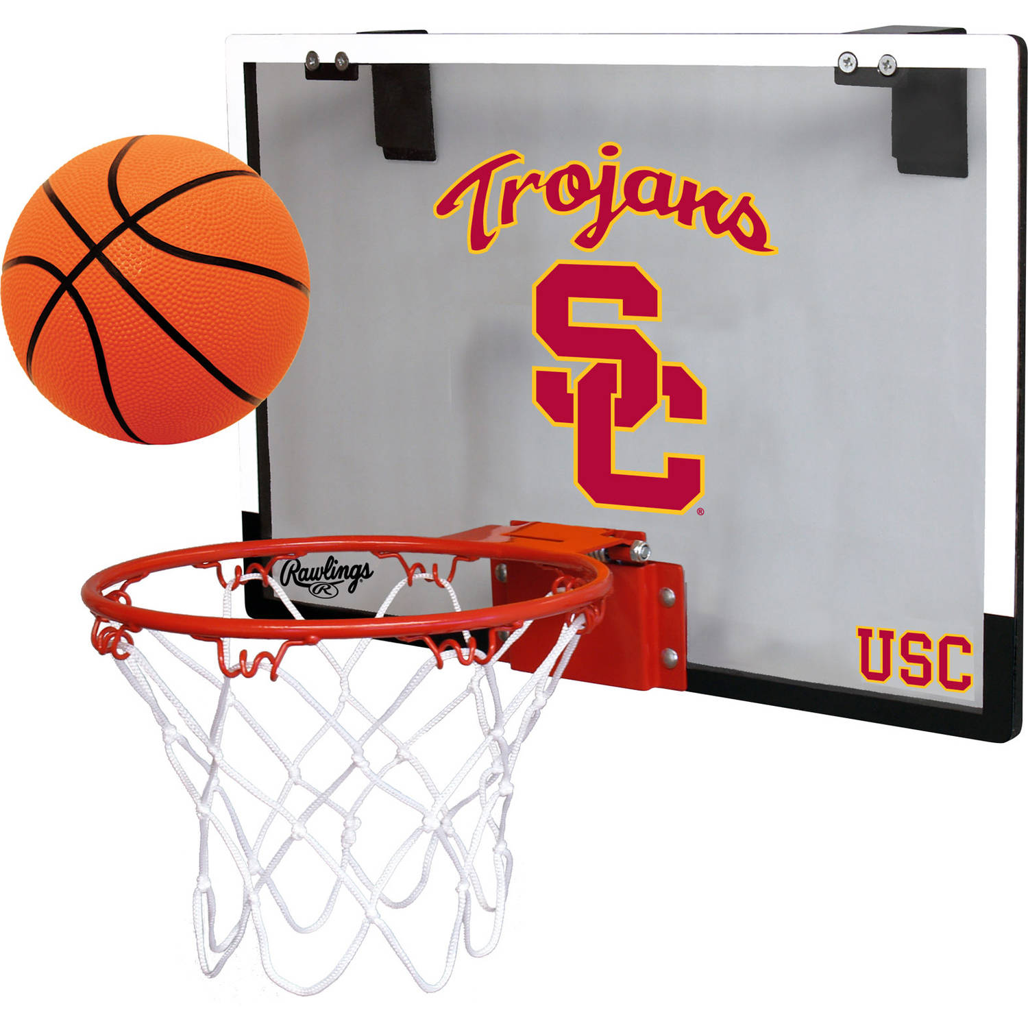 Rawlings NCAA Polycarbonate Hoop Set University Of Southern California Trojans