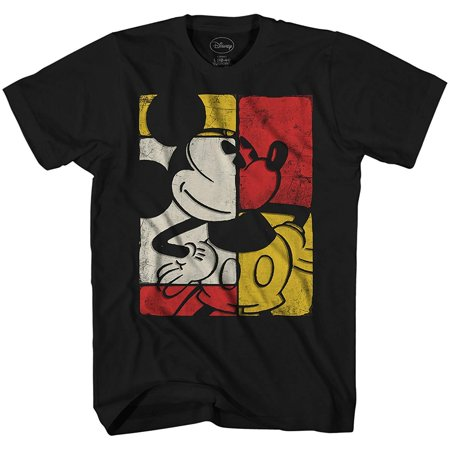 Adult Funny Shirts (Mickey Mouse in Blocks Disneyland Disney World Tee Funny Humor Adult Mens Graphic)