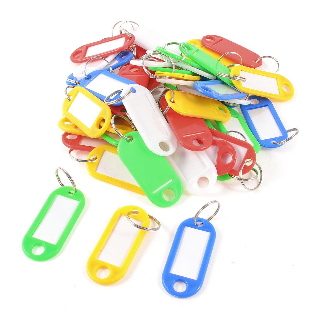 """Unique Bargains Home Multicolor Plastic Name Tag Badge Clip Holder Key Chain 2"""" Long 45 Pcs"""