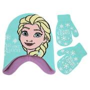 Disney Frozen Elsa Hat and Mitten Cold Weather Set, Toddler Girls, Age 2-4