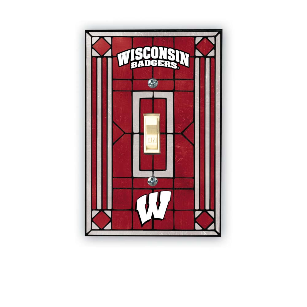 Wisconsin Art Glass Lightswitch Cover