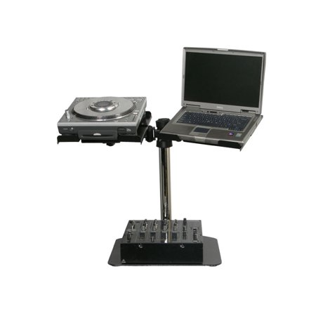 Odyssey Gear Stand - Odyssey Cases LUNISPDB New Dual Universal L-Evation Laptop & DJ Audio Gear Stand