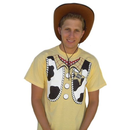 Sheriff Woody T-Shirt Costume Toy Story Movie Cosplay Adult Youth Cowboy Gift](Cowboy Gifts)