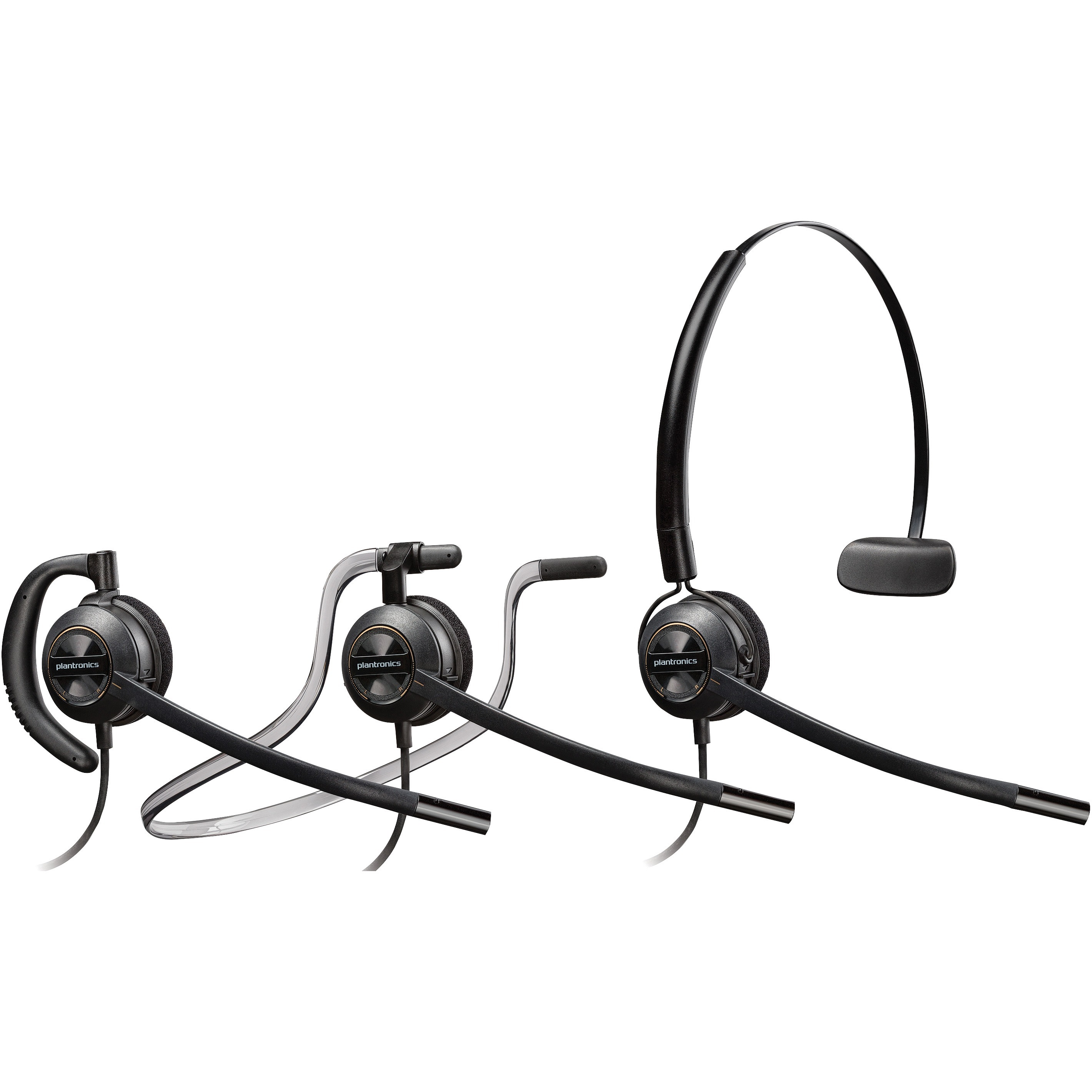 Plantronics Plnhw540 Hw540 Encorepro Convertible Headset 1 Black