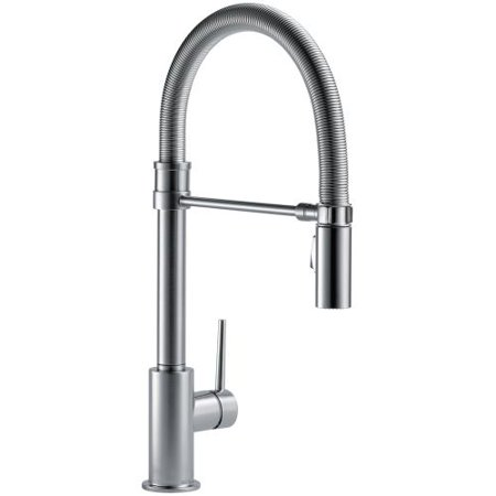 Delta Trinsic Single Handle Pull-Down Kitchen Faucet With Spring Spout, Arctic Stainless