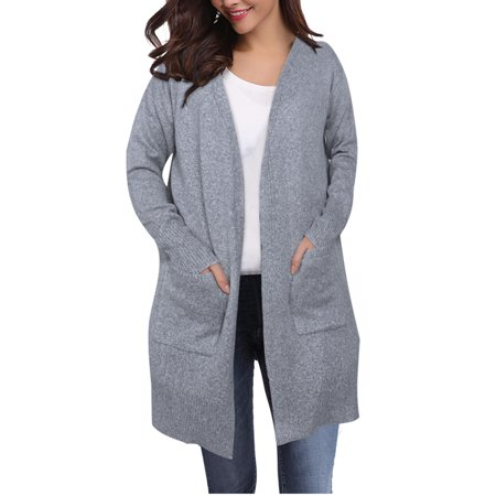 c440176c3b7d Himone - Womens Winter Baggy Cardigan Coat Top Pocket Chunky Knitted  Oversized Sweater Jumper - Walmart.com