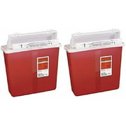 Sharpstar In-Room Sharps Container, Mailbox Lid, Red, 5qt. 8507SA (Pack of 2)