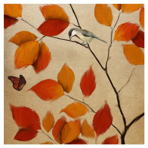 PTM Images Lil Bird Painting Print on Canvas