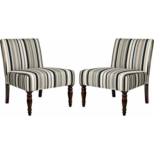 Angelo home bradstreet mid century chairs black stripe
