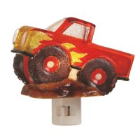 Red Monster Truck Mud Bog Boys Room Night Light Acrylic Electric