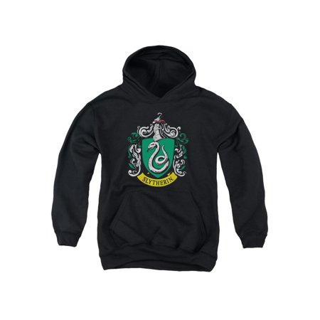 Harry Potter Slytherin Crest Youth Pull Over Hoodie Black