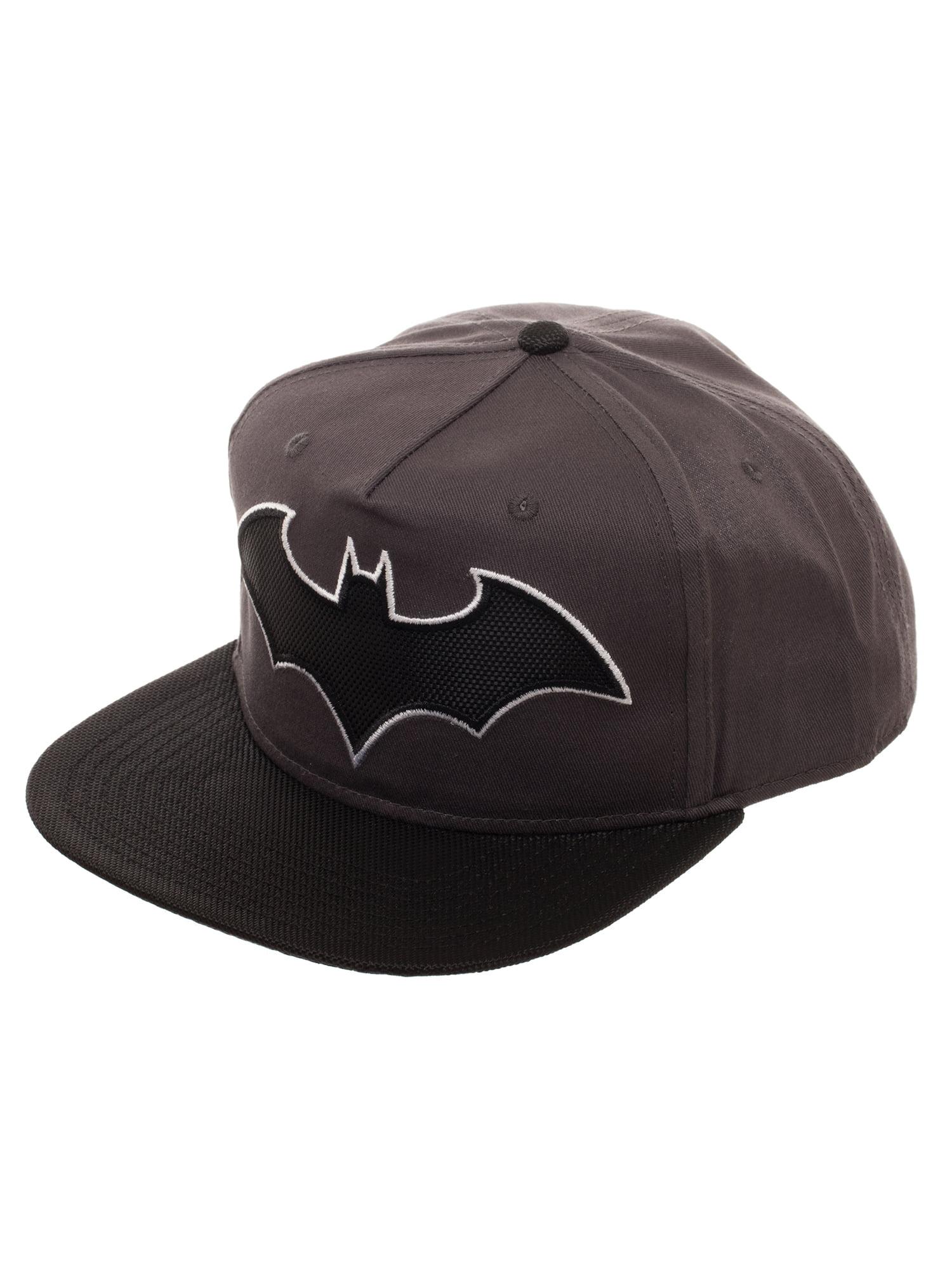 276bcff1e1b Boy s Batman Snapback Hat with Woven Batman Emblem and Flat Bill ...